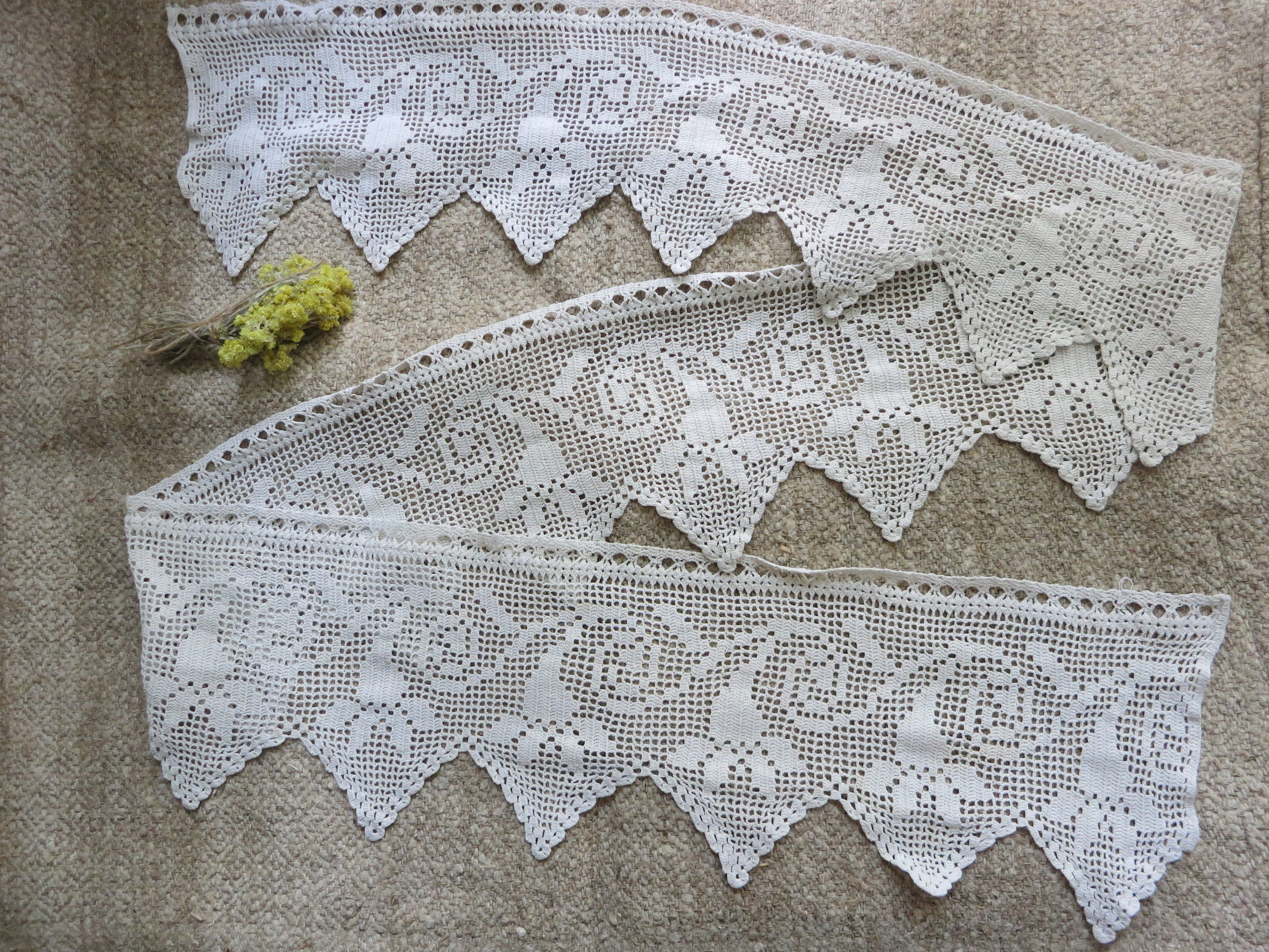 Crochet Lace handmade lace crochet trim edging antique lace