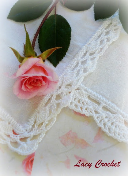 Crochet Lace Edging Fresh Lacy Crochet More Crochet Edgings for Handkerchiefs Of Charming 48 Images Crochet Lace Edging