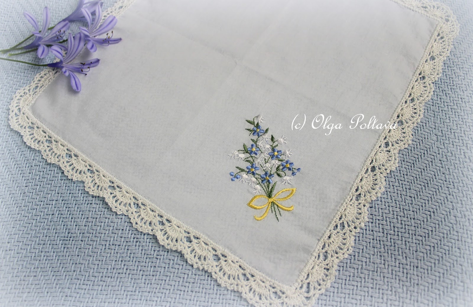Lacy Crochet Lace Edging for a Handkerchief Simple
