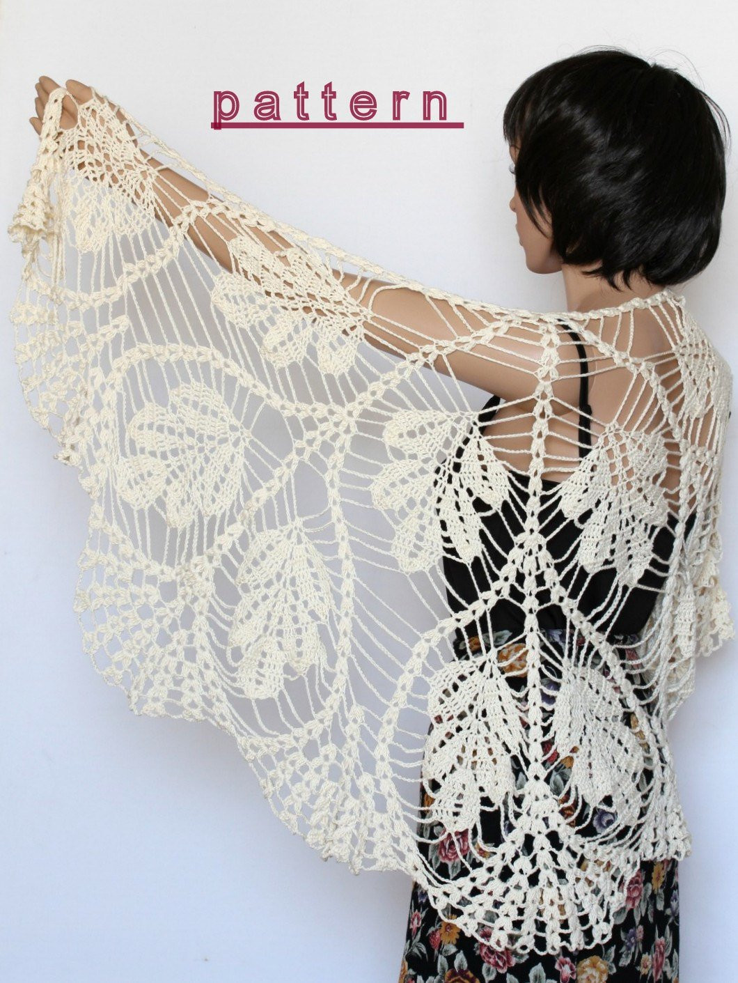 crochet shawl pattern wedding shawl wrap