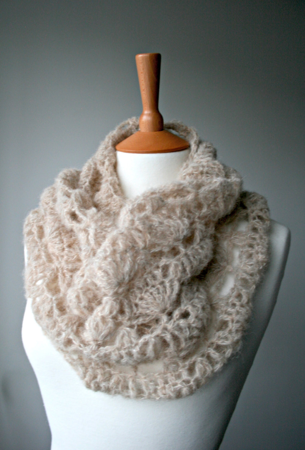 Crochet Pattern scarf crochet pattern lace silk crochet cowl