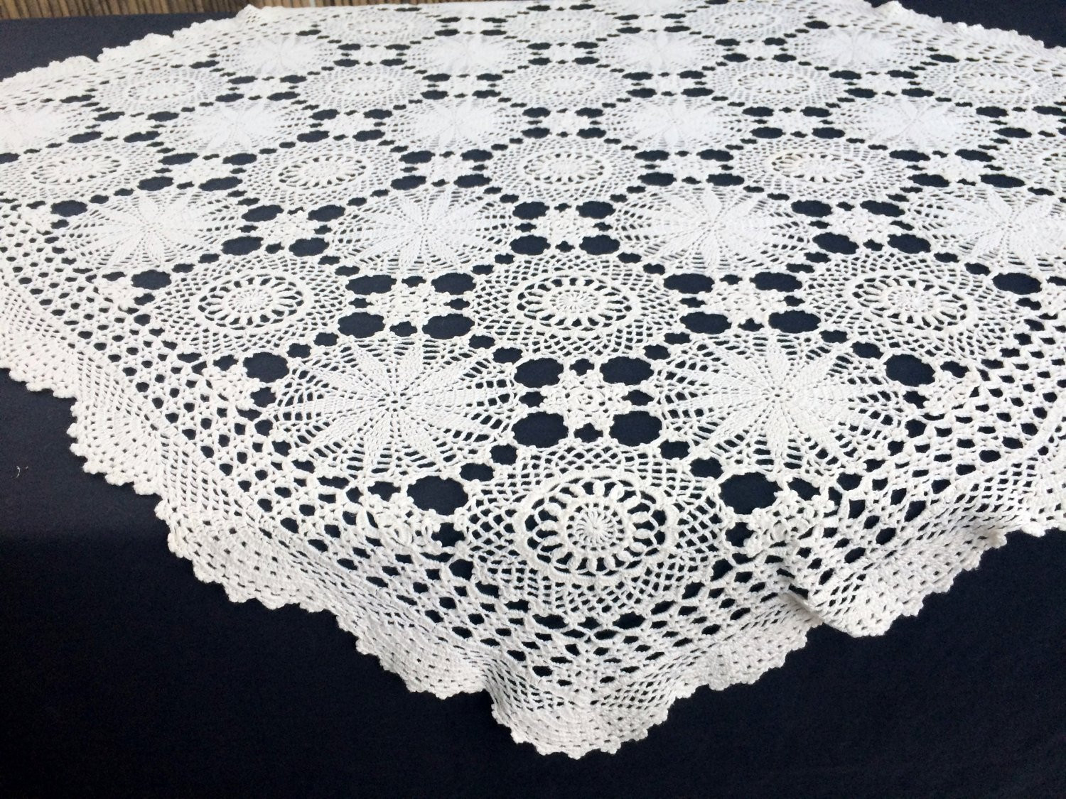Crochet Lace Tablecloth Awesome Crochet Tablecloth Lace Tablecloth Vintage Tablecloth Of Unique 41 Models Crochet Lace Tablecloth