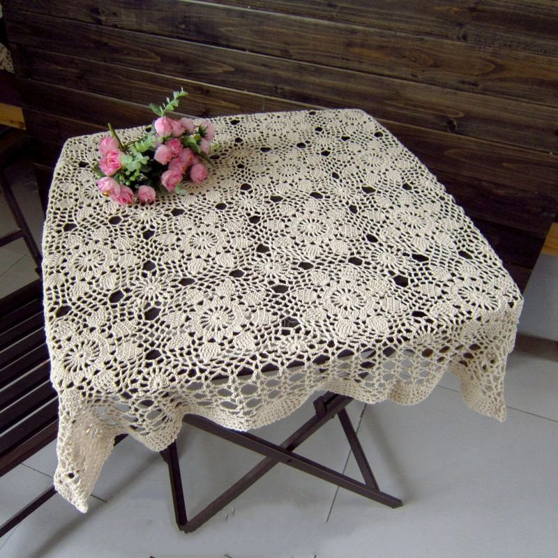Crochet Lace Tablecloth Beautiful Line Buy wholesale Crochet Tablecloth From China Crochet Of Unique 41 Models Crochet Lace Tablecloth
