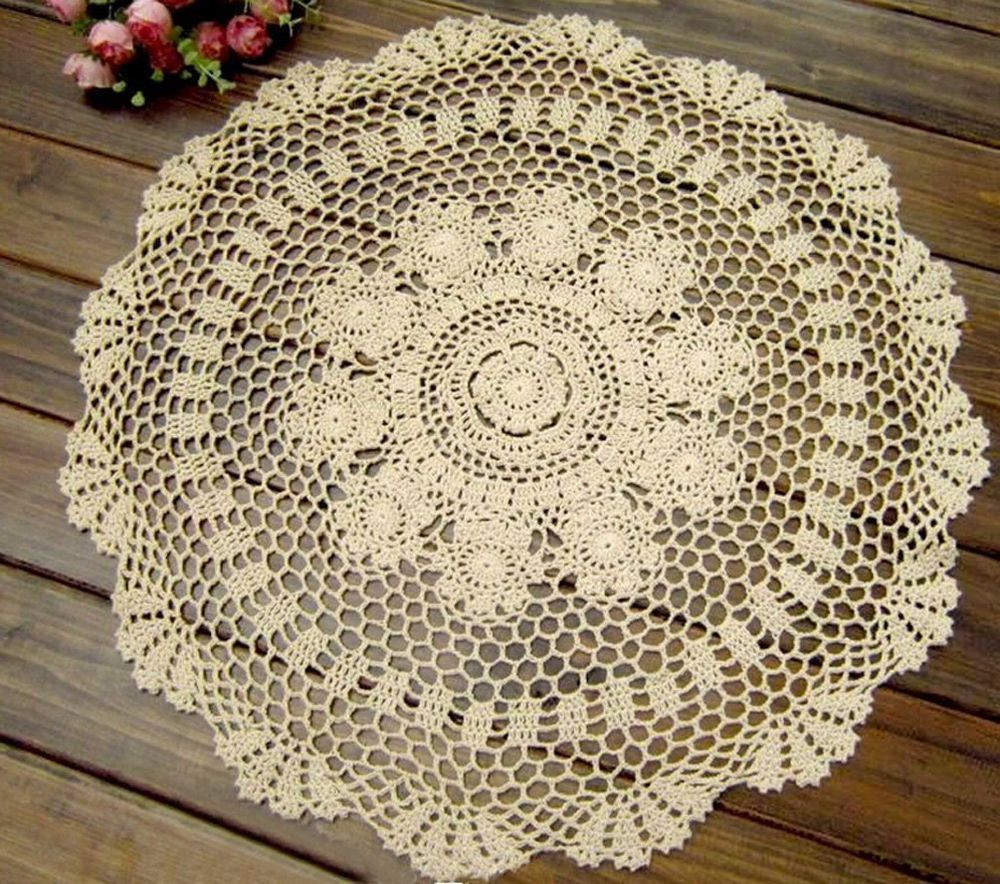 Crochet Lace Tablecloth Inspirational Kamay S Handmade Crochet Round Cotton Lace Doilies Of Unique 41 Models Crochet Lace Tablecloth