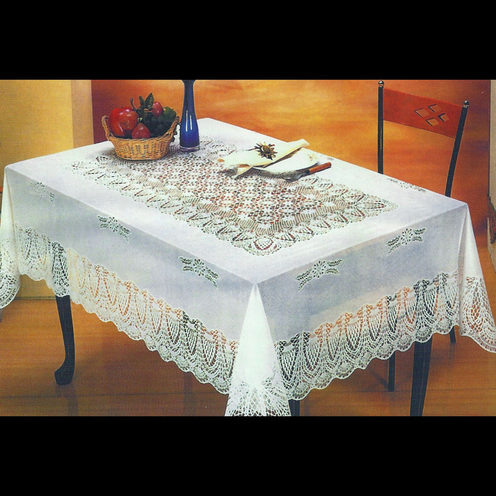 "Crochet Lace Tablecloth Inspirational New White Crocheted Lace Vinyl Tablecloths 54""x72"" 60""x90 Of Unique 41 Models Crochet Lace Tablecloth"