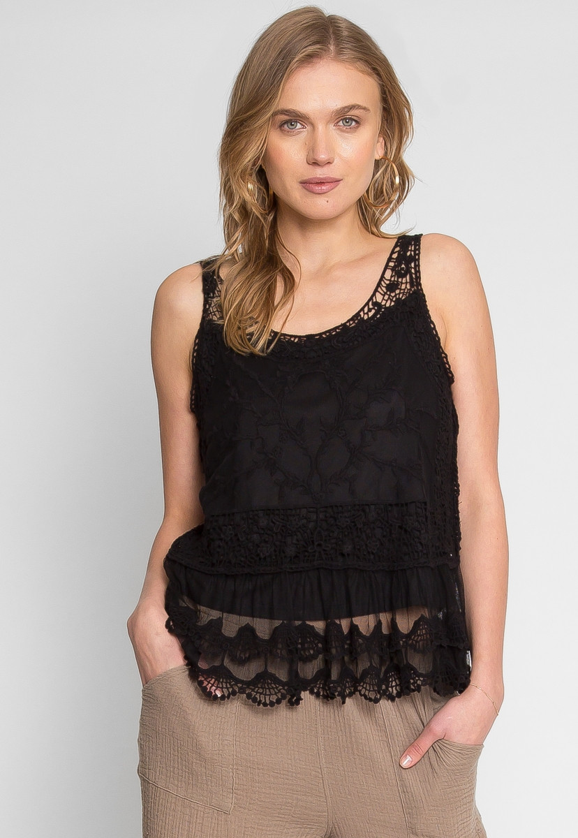 Crochet Lace Tank top Awesome Midnight Reveal Crochet Lace Overlay Tank top Look Of Incredible 41 Images Crochet Lace Tank top
