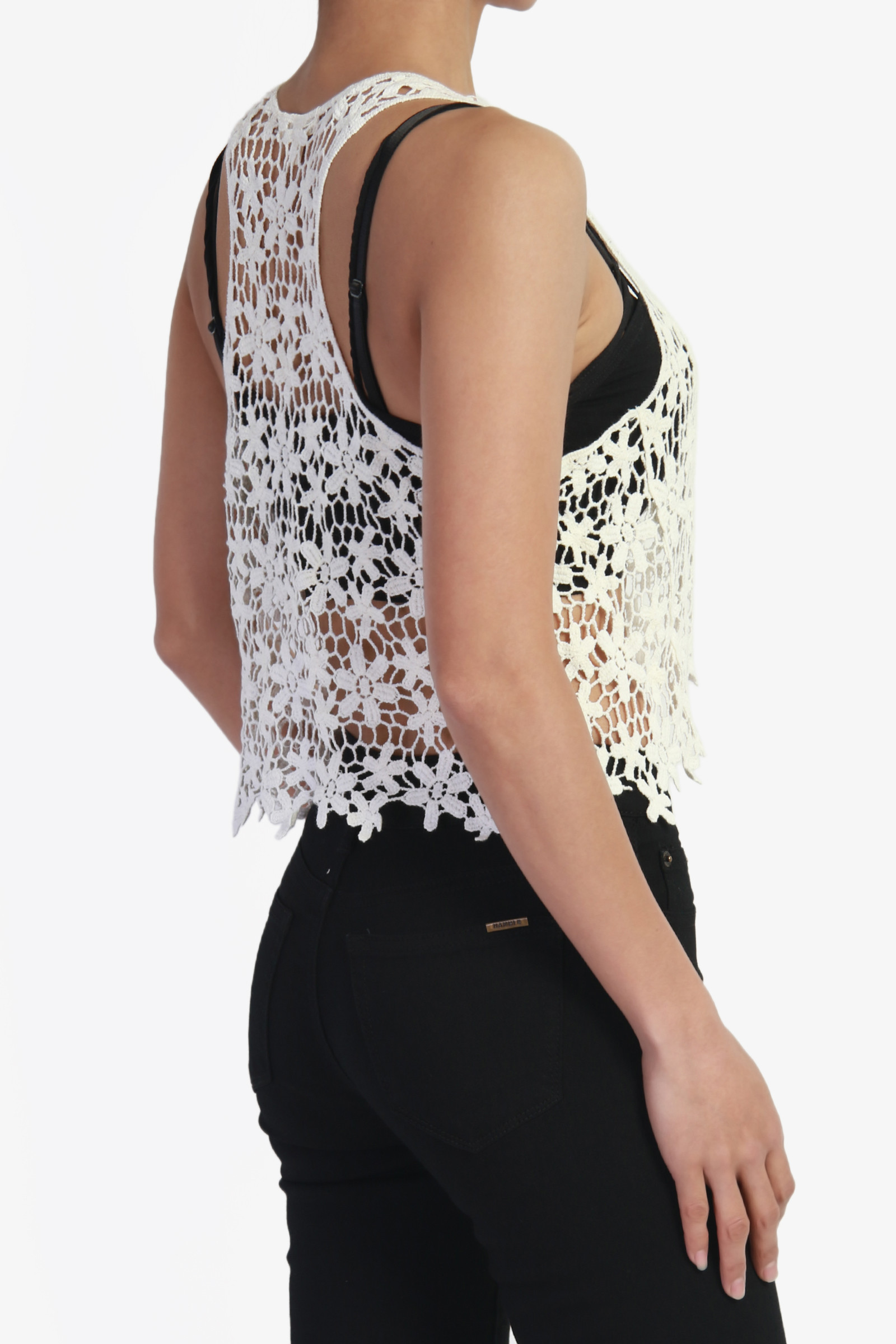 Crochet Lace Tank top Awesome themogan Women S Crochet Lace Sheer Cotton Crop Tank top Of Incredible 41 Images Crochet Lace Tank top