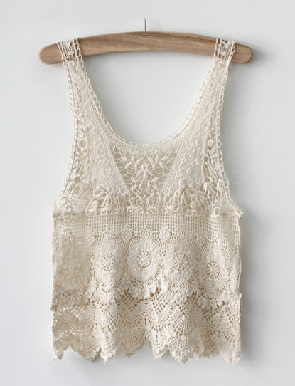 Crochet Lace Tank top Elegant Hollow Crocheted Lace Tank top On Luulla Of Incredible 41 Images Crochet Lace Tank top