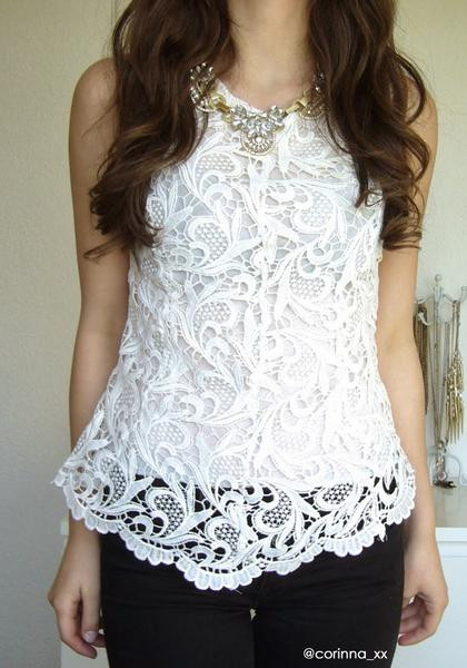 Crochet Lace Tank top Fresh Crochet Lace Tank White top Of Incredible 41 Images Crochet Lace Tank top
