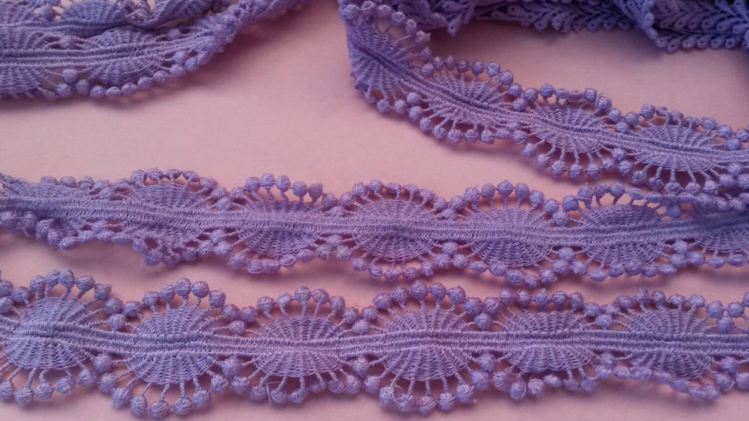 """Crochet Lace Trimming Awesome 2 Yards Purple Cotton Lace Trim 1"""" Wide Embroidery Crochet Of Superb 50 Pics Crochet Lace Trimming"""