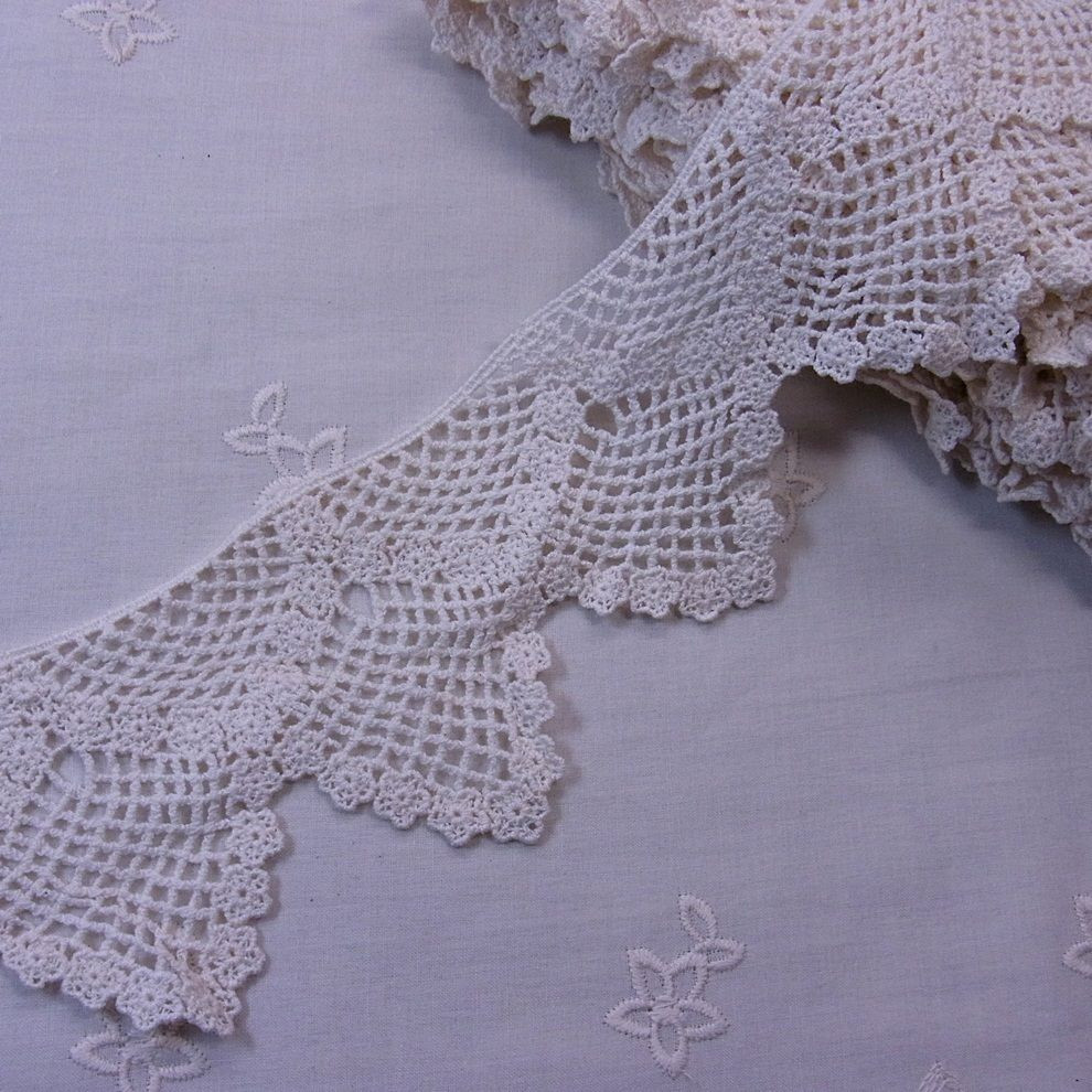 Crochet Lace Trimming Fresh Antique Style Scalloped Embroidery Cotton Crochet Lace Of Superb 50 Pics Crochet Lace Trimming