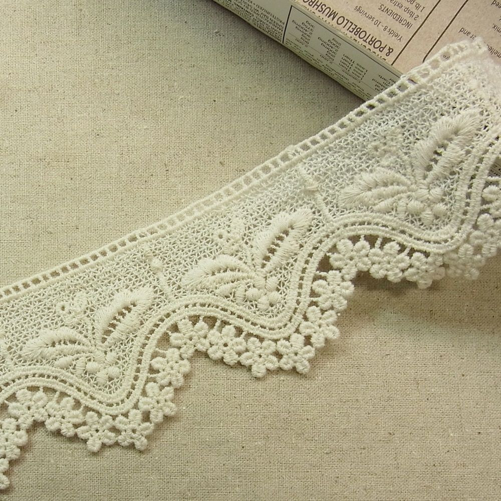Crochet Lace Trimming New 1yd Antique St Scalloped Embroidery Cotton Fabric Crochet Of Superb 50 Pics Crochet Lace Trimming
