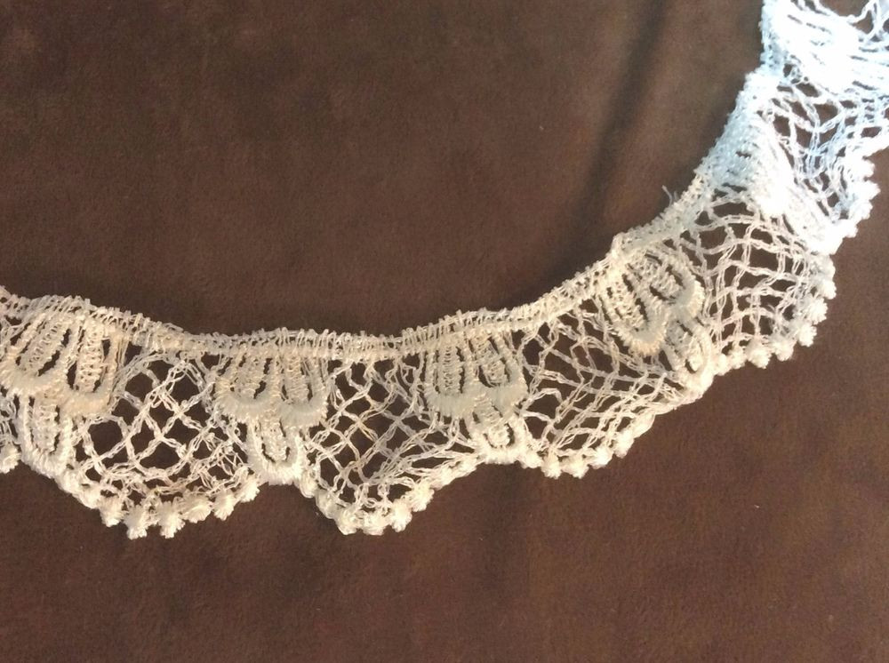 Crochet Lace Trimming New Crochet White Ivory Lace Trim 1 Inch 1 Yard Of Superb 50 Pics Crochet Lace Trimming