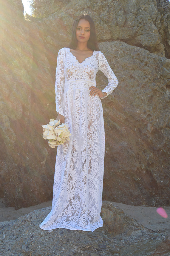 Crochet Lace Wedding Dress Elegant Hippie Wedding Dress Archives the Broke ass Bride Bad Of Great 48 Ideas Crochet Lace Wedding Dress