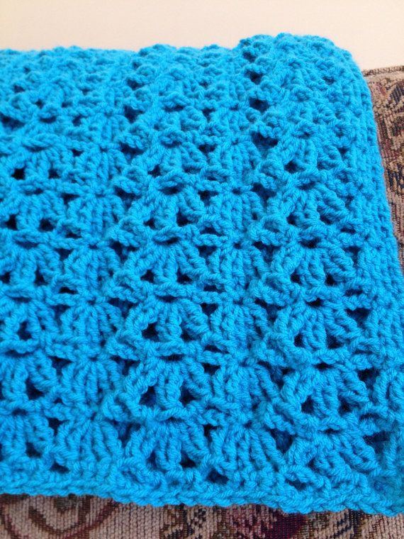 Crochet Lap Blanket Best Of Crocheted Blue Afghan Turquoise Lap Throw Aqua forter Of Awesome 46 Pics Crochet Lap Blanket