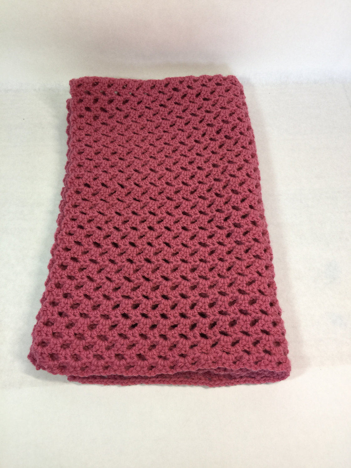 Lap Blanket Wheelchair Throw fice Cover Crocheted Rose