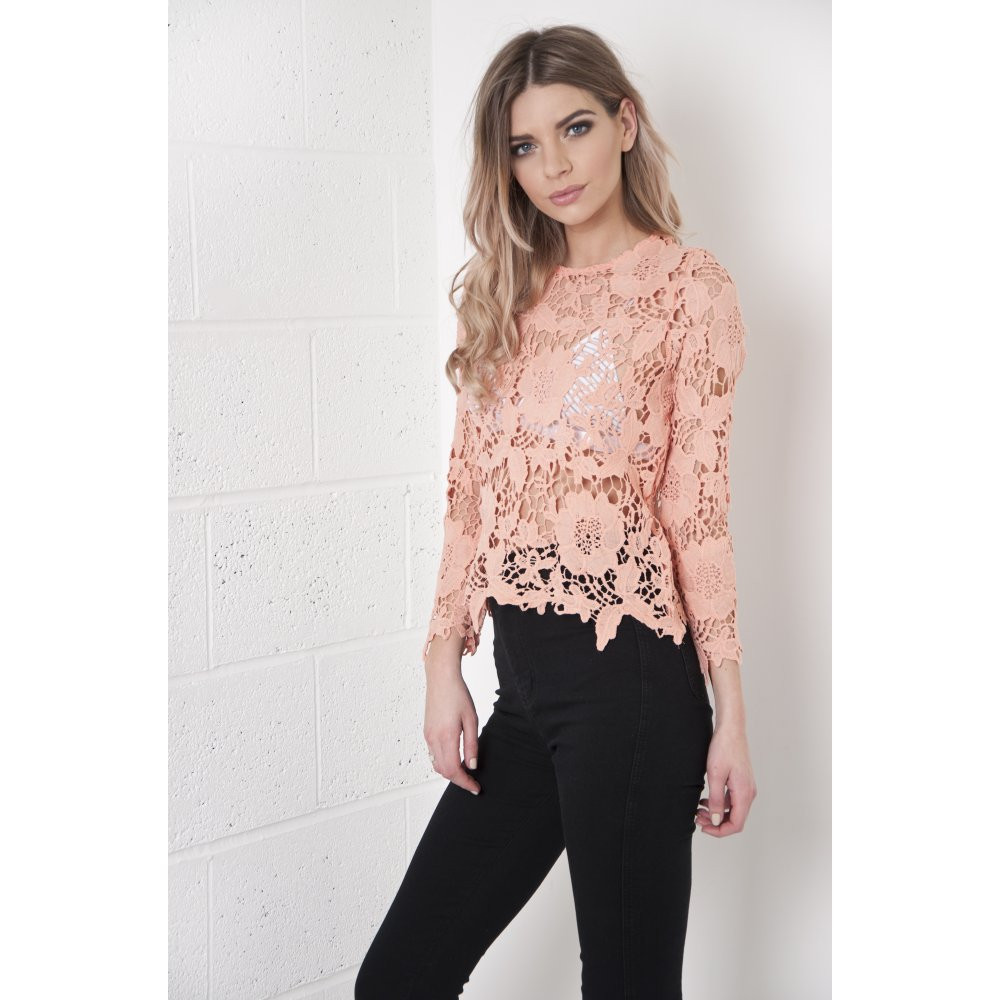 Crochet Long Sleeve top Fresh Pin Barbietch Long Sleeve Lace top On Pinterest Of Contemporary 50 Models Crochet Long Sleeve top