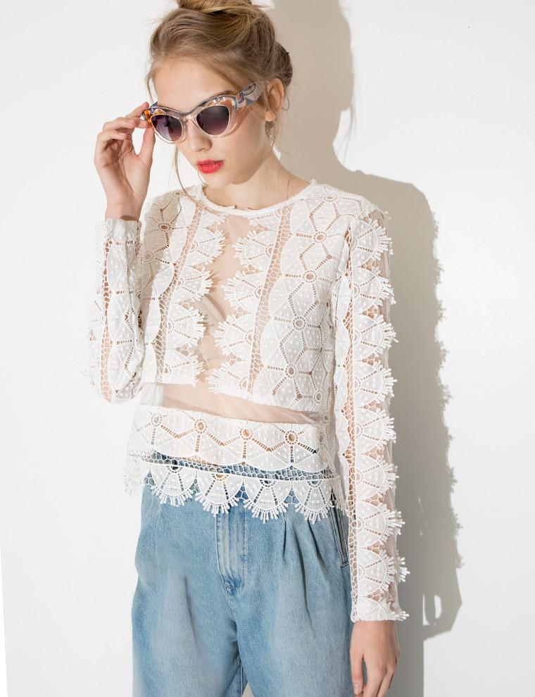 Crochet Long Sleeve top Fresh White Crochet top Long Sleeve Crochet and Knit Of Contemporary 50 Models Crochet Long Sleeve top