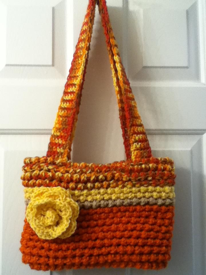 Loom knitted purse Kept this one for myself