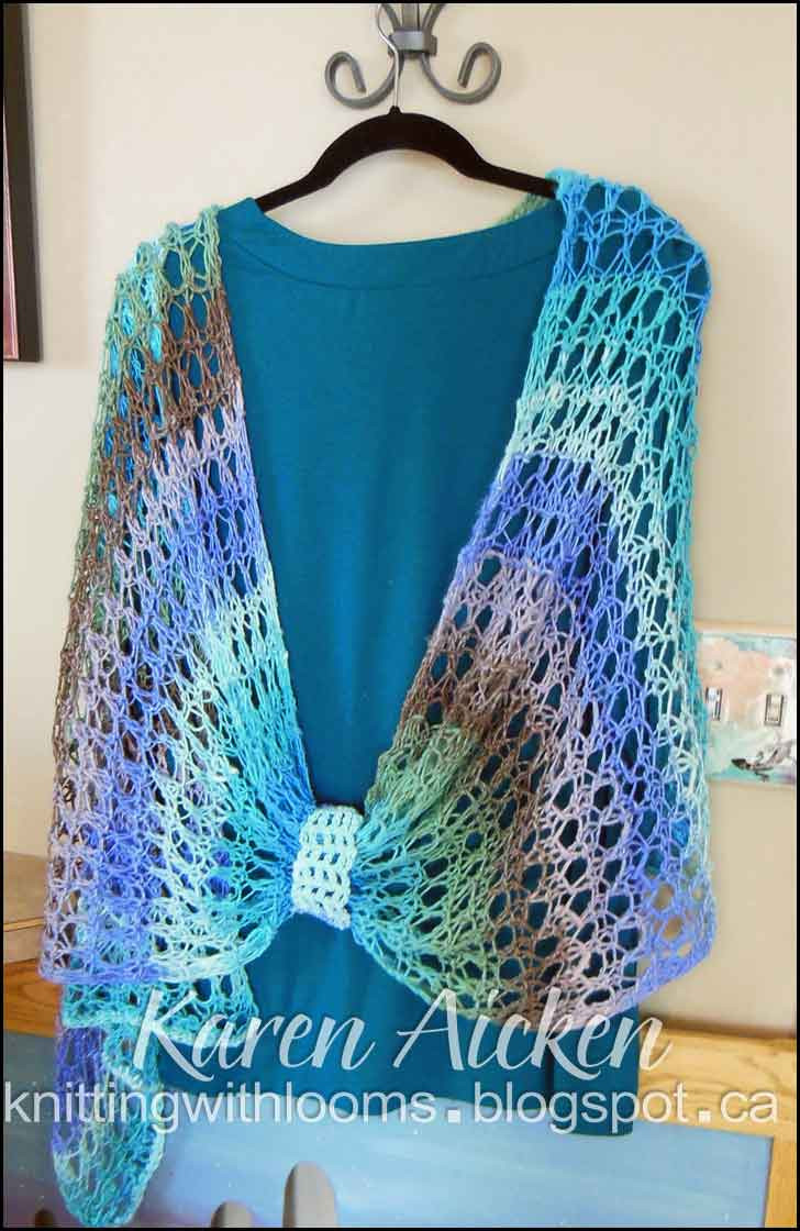 Crochet Loom Best Of Knitting with Looms Finished Waves Of Lace Shawl Of Beautiful 46 Images Crochet Loom