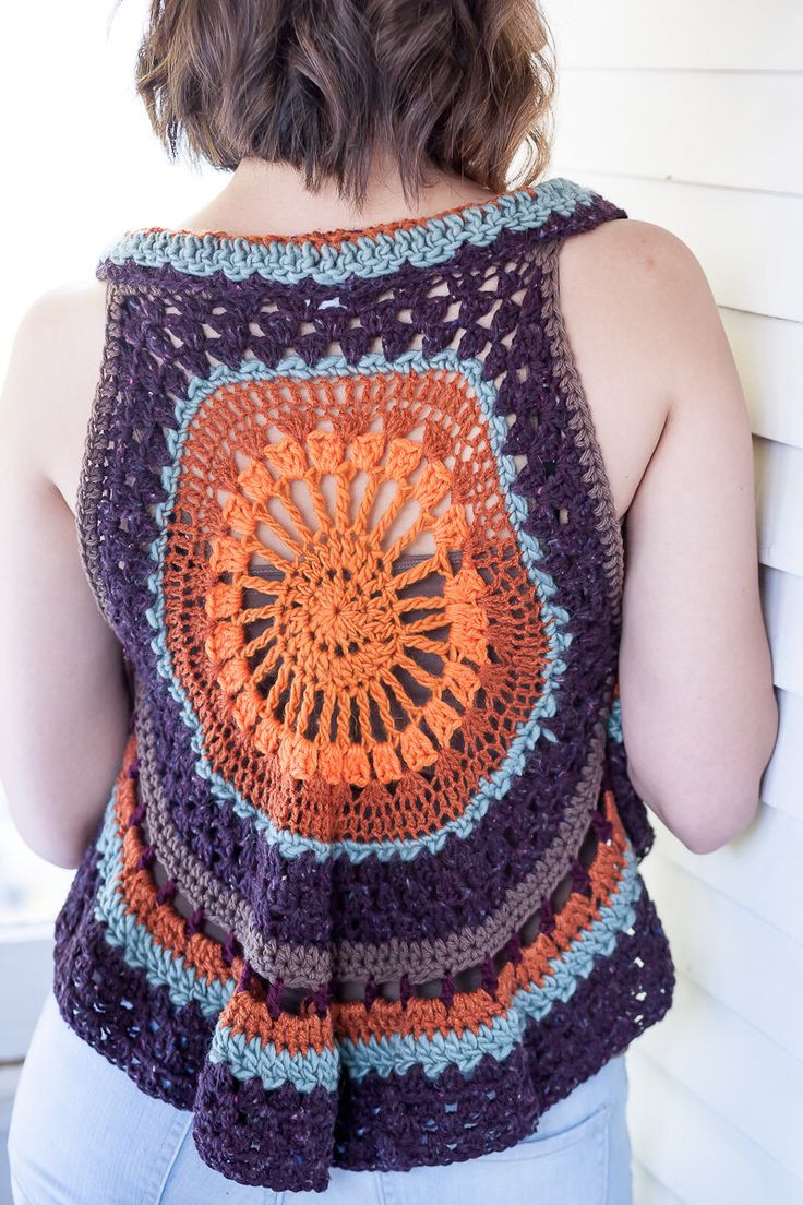Crochet Mandala Vest Awesome Bohemian afternoon Crocheted Vest Circle Shawl Bohemian Of Attractive 50 Pics Crochet Mandala Vest