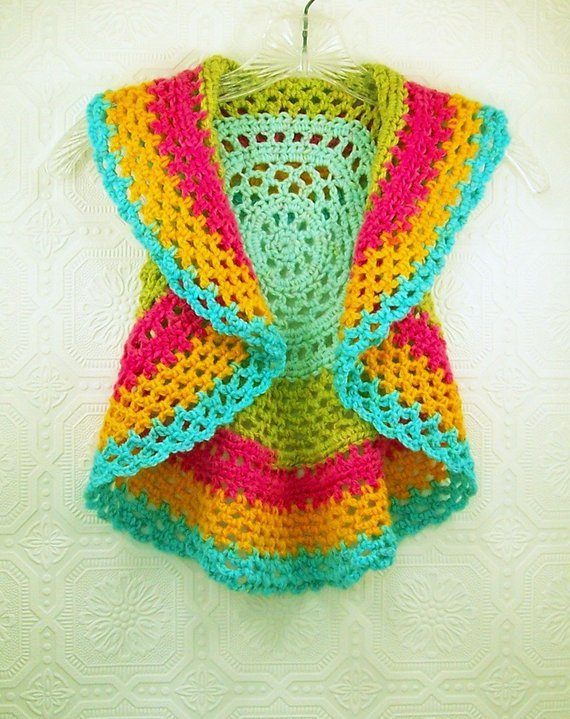 Crochet Mandala Vest Beautiful Child S Boho Circle Vest Crochet Mandala Vest Sleeveless Of Attractive 50 Pics Crochet Mandala Vest