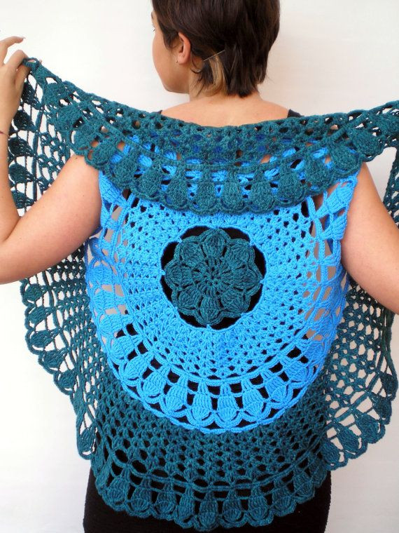 Crochet Mandala Vest Beautiful Crochet Circle Sweater Shrug Of Attractive 50 Pics Crochet Mandala Vest