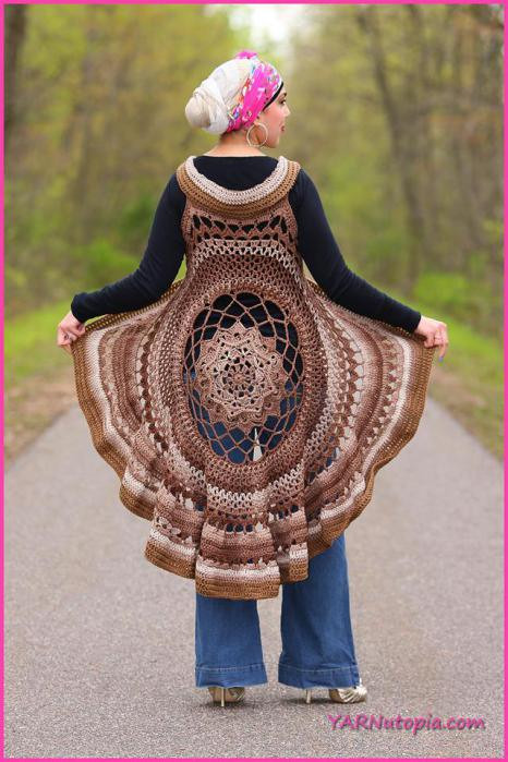 Crochet Mandala Vest Beautiful Crochet Tutorial Spring Sun Mandala Vest Yarnutopia by Of Attractive 50 Pics Crochet Mandala Vest