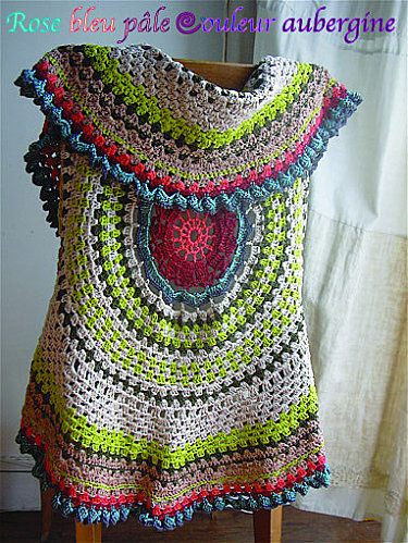 Crochet Mandala Vest Beautiful Mandala Vest I Want to Make This for Myself Of Attractive 50 Pics Crochet Mandala Vest