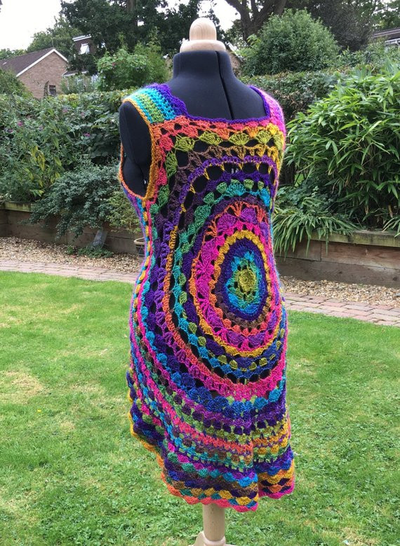 Crochet Mandala Vest Best Of Crochet Mandala Dreamcatcher Waistcoat Jacket Rainbow Vest Of Attractive 50 Pics Crochet Mandala Vest