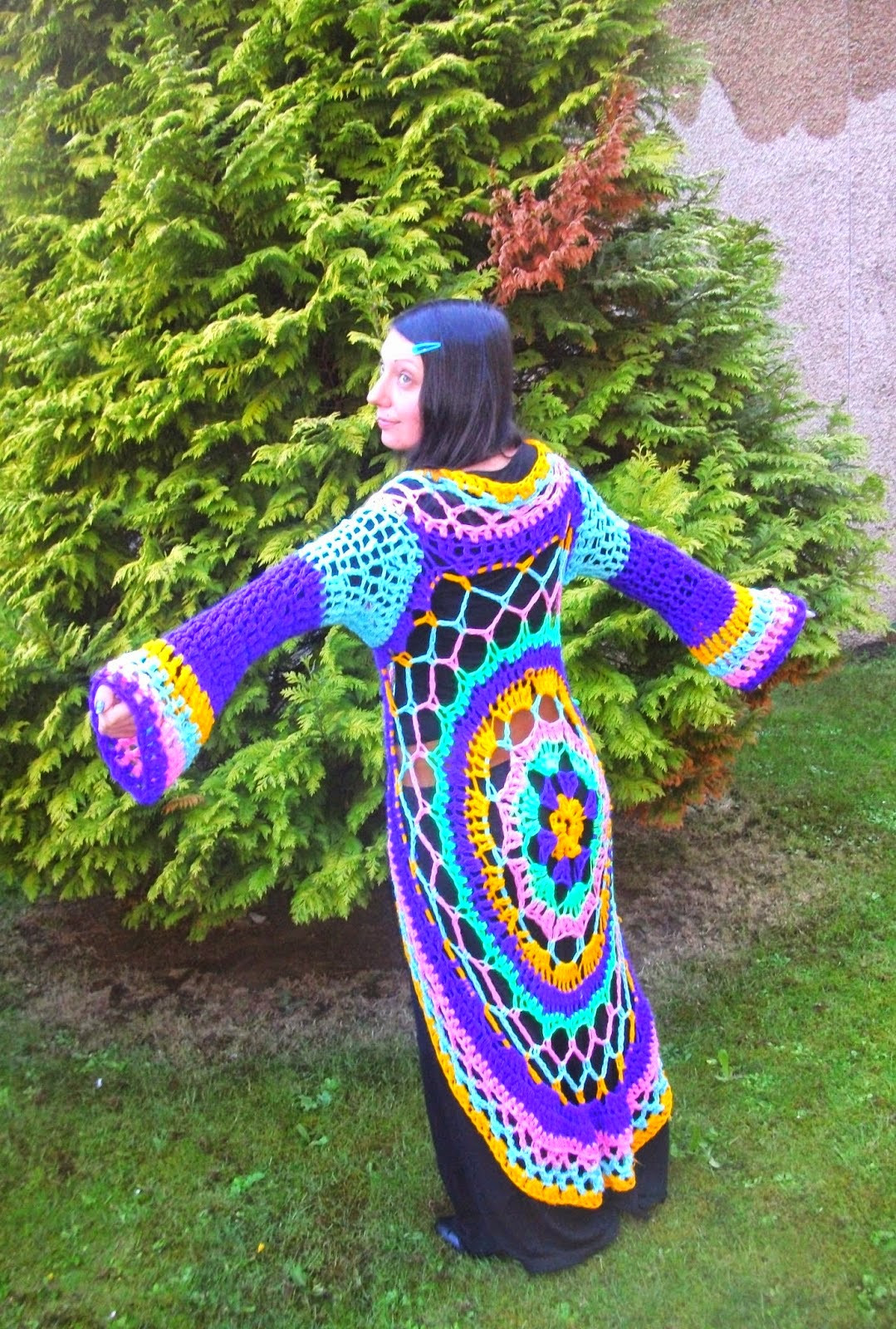 Crochet Mandala Vest Elegant Dada Neon Crochet How to Create Your Own Rainbow Of Attractive 50 Pics Crochet Mandala Vest