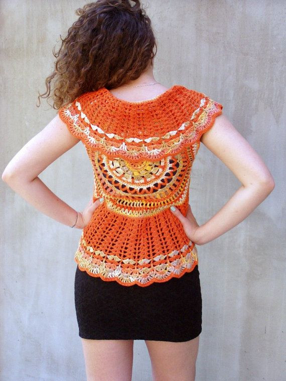 Crochet Mandala Vest Inspirational 3456 Best Images About Crochet Vests 1 On Pinterest Of Attractive 50 Pics Crochet Mandala Vest