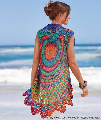 Beautiful Crochet beach coverup