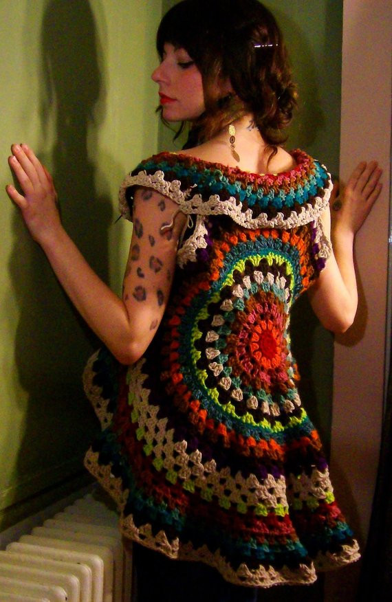 Crochet Mandala Vest Lovely Pinterest Finds A Creative Being Of Attractive 50 Pics Crochet Mandala Vest