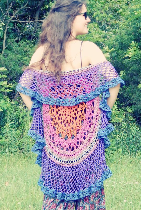 Crochet Mandala Vest Luxury Hookin On Hump Day 121 Link Party for the Fiber Arts Of Attractive 50 Pics Crochet Mandala Vest