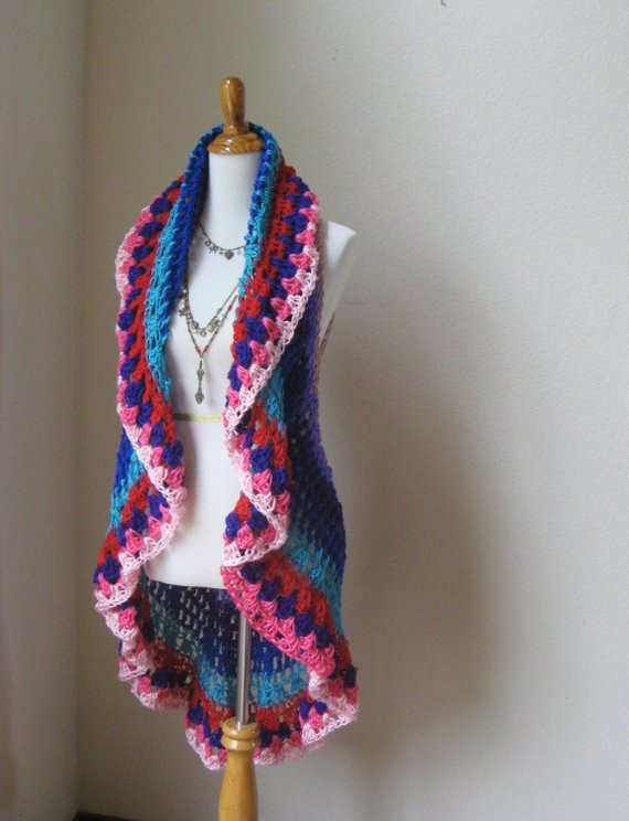 Crochet Mandala Vest Luxury Multicolor Mandala Bohemian Vest Crochet Boho Chic Women Vest Of Attractive 50 Pics Crochet Mandala Vest