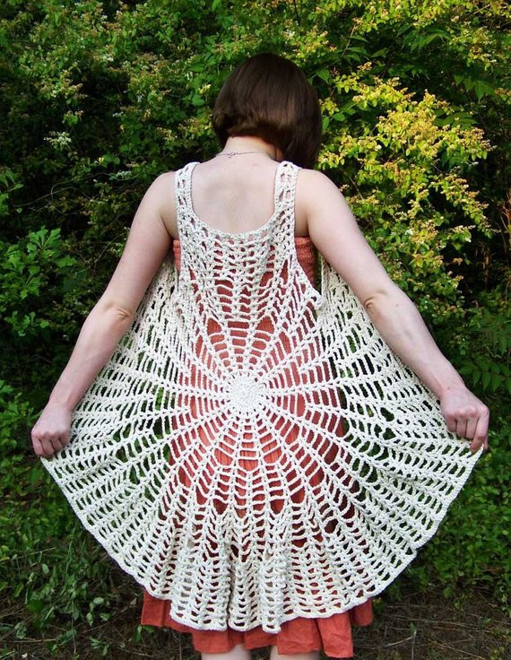 Mandala Spider Web Vest Dress yarn and color your choice