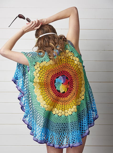 Crochet Mandala Vest New Rainbow Mandala Vest Pattern A Crochet Masterpiece Of Attractive 50 Pics Crochet Mandala Vest