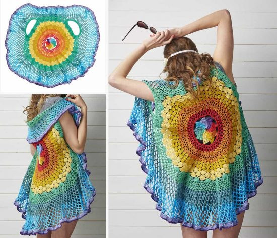 Crochet Mandala Vest Unique Crochet Circular Jacket Pattern Free Pinterest Best Ideas Of Attractive 50 Pics Crochet Mandala Vest