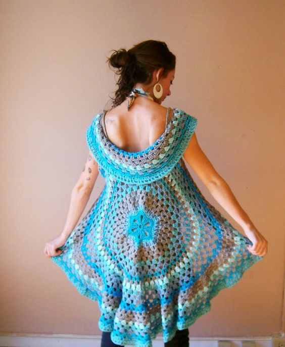 Crochet Mandala Vest Unique Crochet Mandala Vest by Oliviaroyale On Etsy $149 00 Of Attractive 50 Pics Crochet Mandala Vest