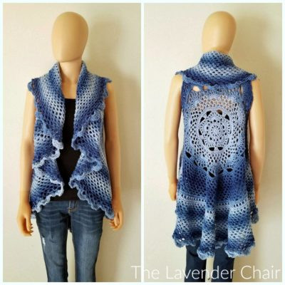 Crochet Mandala Vest Unique Midnight Star Mandala Vest Cal Intro Post the Lavender Chair Of Attractive 50 Pics Crochet Mandala Vest