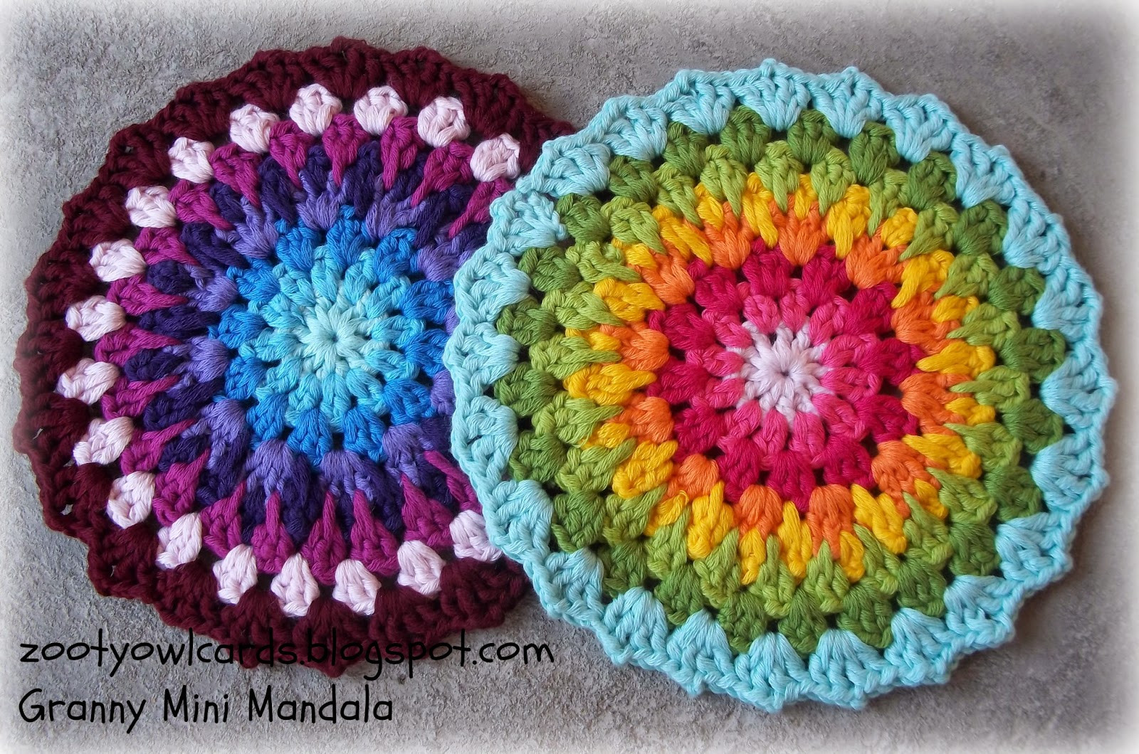 Crochet Mandalas Awesome Zooty Owl S Crafty Blog Granny Mini Mandala Of Incredible 41 Pics Crochet Mandalas