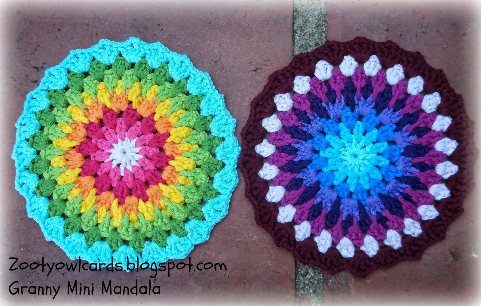 Zooty Owl s Crafty Blog Granny Mini Mandala