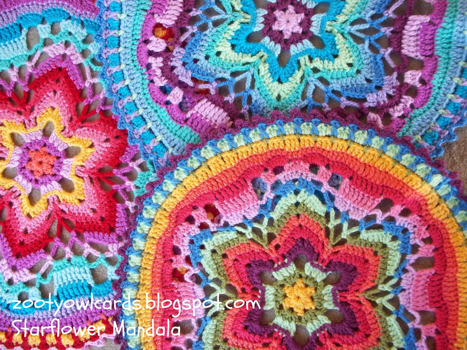 Crochet Mandalas Fresh Zooty Owl S Crafty Blog Starflower Mandala Row by Row Of Incredible 41 Pics Crochet Mandalas