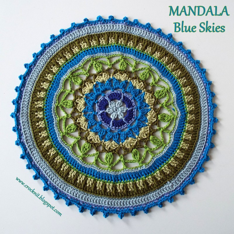 Crochet Mandalas Lovely Microcknit Creations Mandala Blue Skies Crochet Pattern Of Incredible 41 Pics Crochet Mandalas