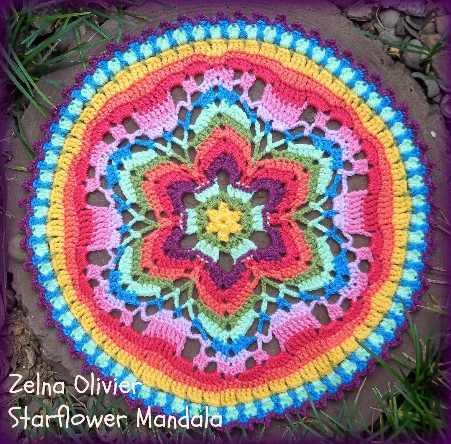 Crochet Mandalas Lovely Zooty Owl S Crafty Blog Starflower Mandala Pattern Of Incredible 41 Pics Crochet Mandalas