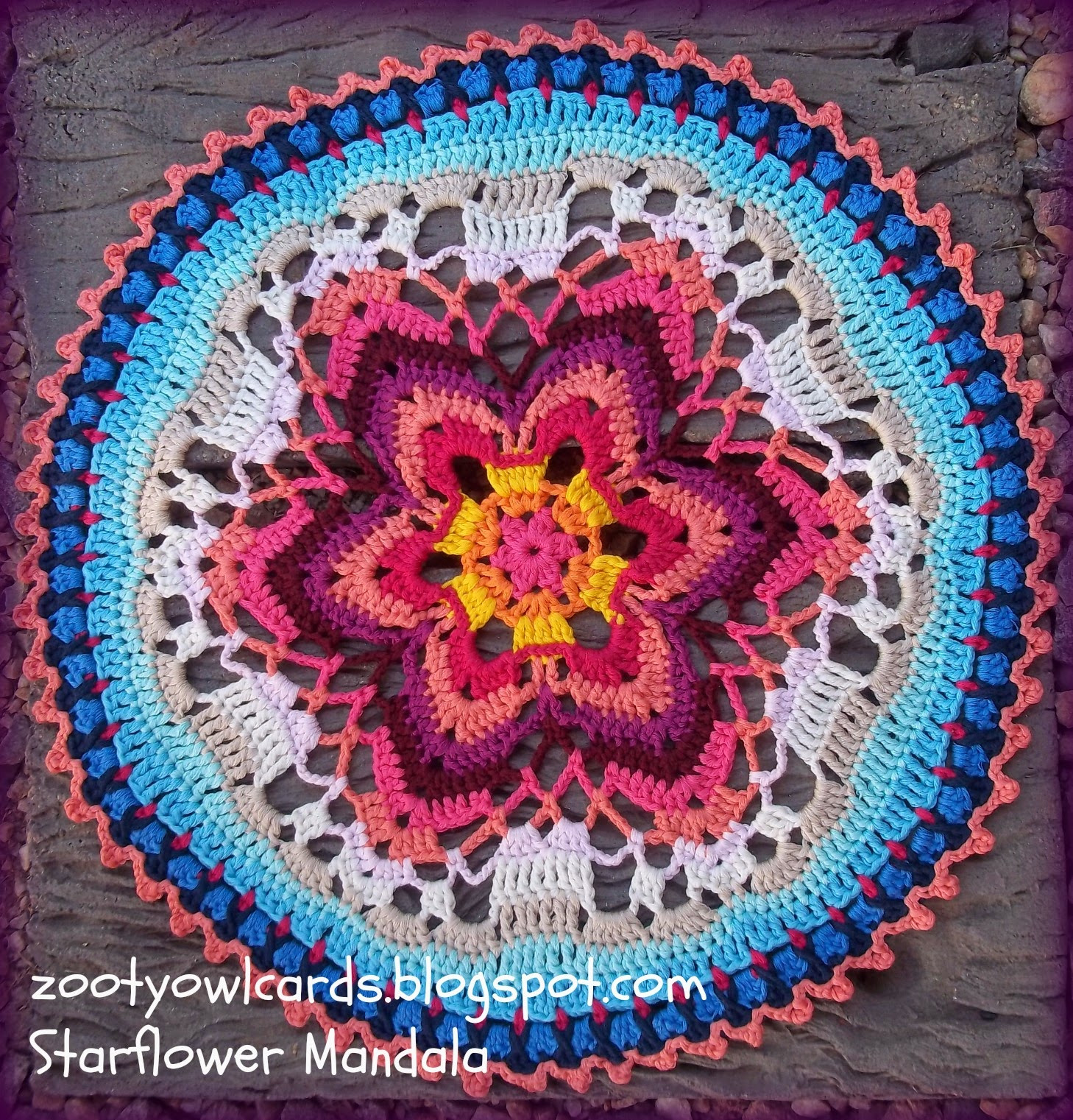 Crochet Mandalas Luxury Zooty Owl S Crafty Blog Starflower Mandala Row by Row Of Incredible 41 Pics Crochet Mandalas