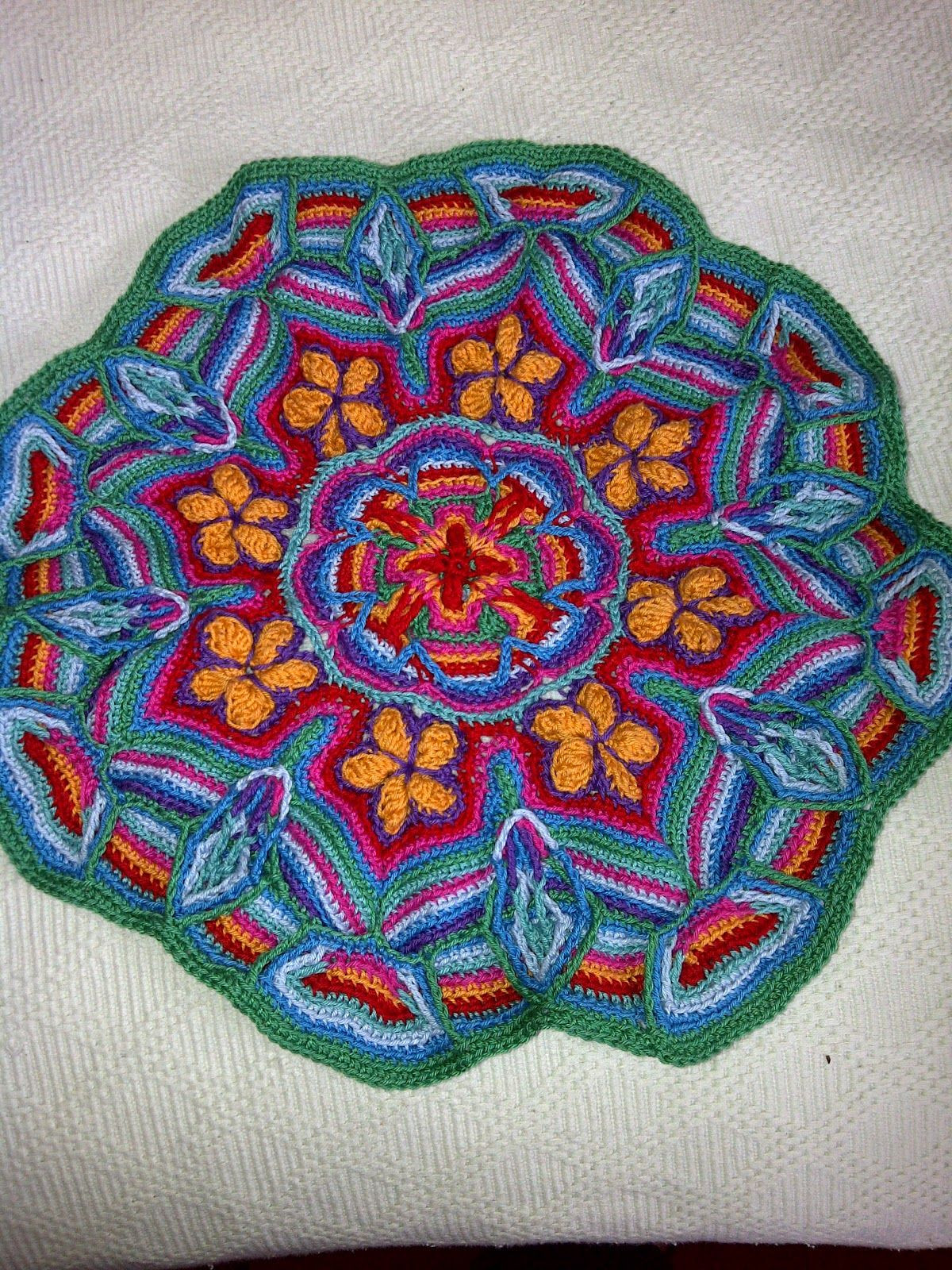 Crochet Mandalas New Overlay Mandala Crochet Has Great Picture Instructions Of Incredible 41 Pics Crochet Mandalas