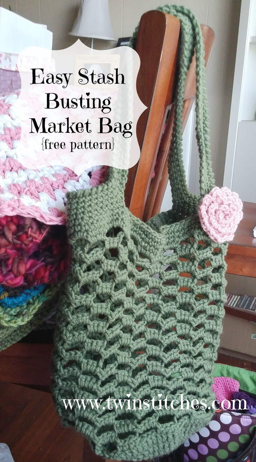 Crochet Market Bag Pattern Luxury Tw In Stitches Easy Stashbusting Market Bag Free Of Top 45 Images Crochet Market Bag Pattern