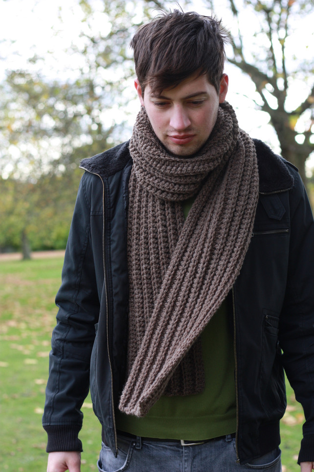 Crochet Mens Scarf Lovely 4 Men's Knit Scarf Patterns the Funky Stitch Of Gorgeous 49 Ideas Crochet Mens Scarf